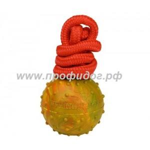 Плавающий мяч на веревке ForDogTrainers, 6 см