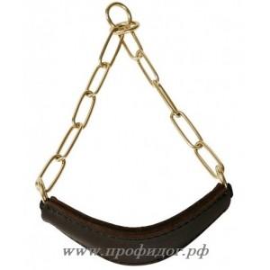 Ошейник-ринговка с кожаным кадыком ABC Sport Klin, 62 см