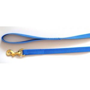 Поводок прорезиненный (латексный), синий, Чехия