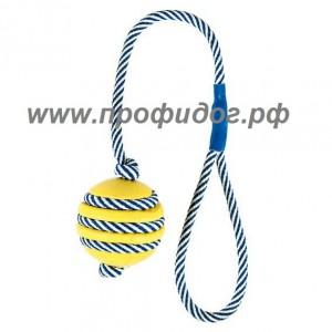 Мяч для собак со светящимся шнурком, 5 см
