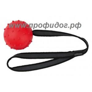 Пустотелый мяч для собак на прорезиненном шнурке, 6 см