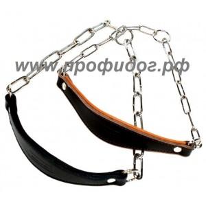 Ошейник-ринговка с кожаным кадыком DINGO