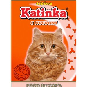 Сухой корм для кошек Katinka (c лососем)