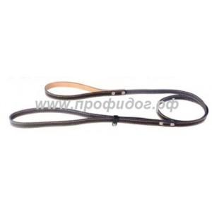 Поводок-удавка кожаный с прошивкой
