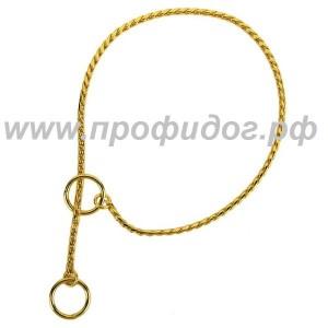 Цепочка-кобра для собак под золото
