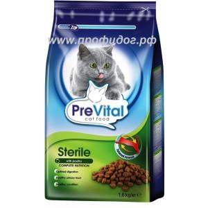 PreVital сухой корм для взрослых стерилизованных кошек